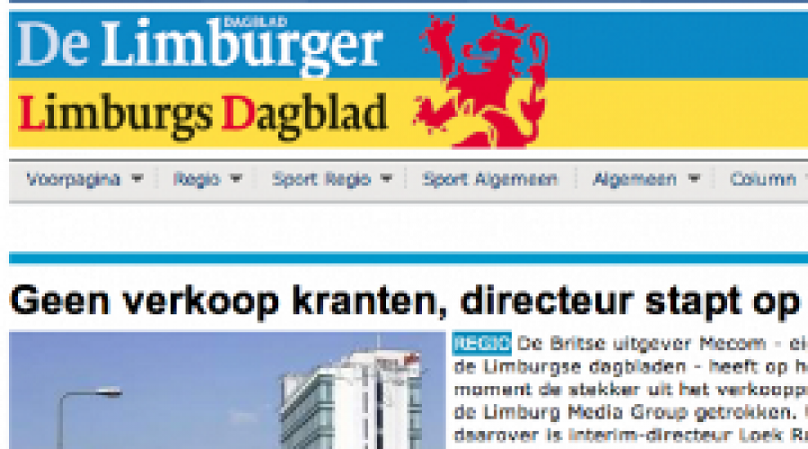 Storing bij Wegener-kranten