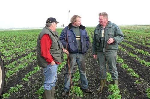 Boeren communiceren face to face