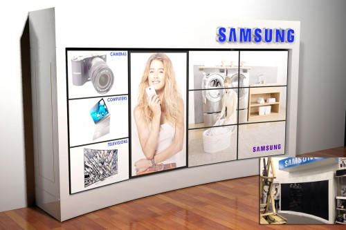 Samsung gaat in winkels interactieve videomuur plaatsen
