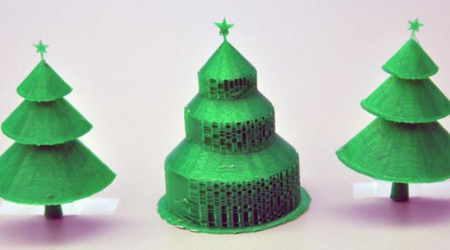 Kerstboom efficiënt printen