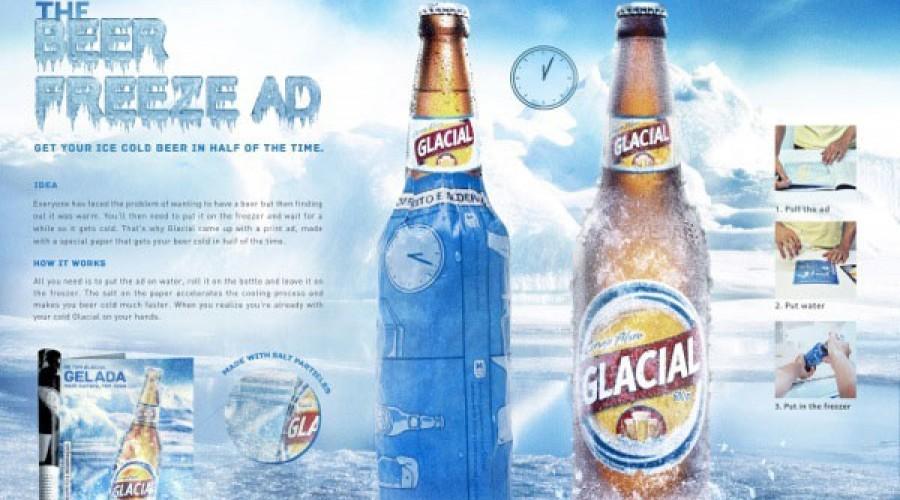 Zet je bier koud met een advertentie