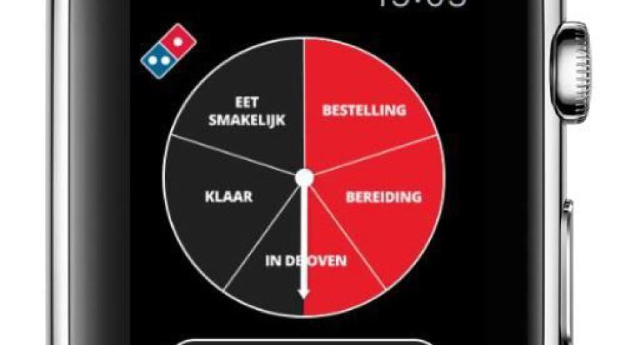 Pizza Tracker op de Apple Watch